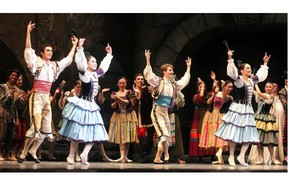 A first act scene from the Alberta Ballet production of Don Quixote at the Jubilee September 24, 2014.