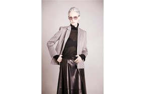Sylist and beauty mogul, Linda Rodin, 66, for The Row is the sophisticated epitome of elegance at any age.