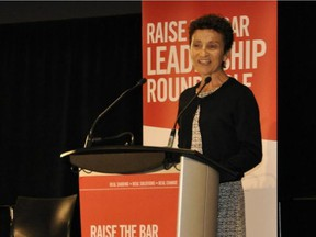Cal1129 Cardel 2   Cardel Place CEO Sue Scott addresses the audience at the recent Cardel Place hosted Raise the Bar Leadership Roundtable. The event focused on how to create healthy lifestyles for not only individuals, but communities as well.