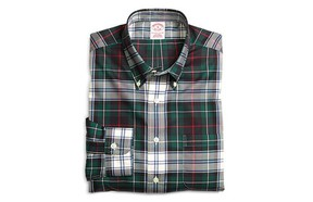"""SEASONAL PLAIDA simple plaid shirt is a beautiful thing. Brooks Brothers carries a great selection—we prefer this pattern and the slim fit. It's also """"non-iron"""" (a.k.a. wrinkle-free), which means you'll be looking sharp with minimal effort. $105 at Brooks Brothers, TD Square, 403-441-0841, brooksbrothers.com."""