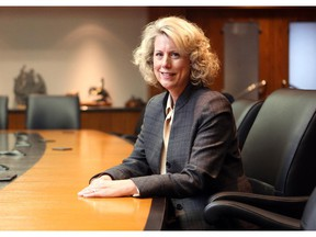 Colleen De Neve/ Calgary Herald CALGARY, AB --DECEMBER 3, 2014 -- TransAlta President and CEO Dawn Farrell was photographed on December 3, 2014.  According to a new survey commissioned by the Herald, TransAlta's board is the most diverse among Calgary's Top 100 companies (36 per cent female). (Colleen De Neve/Calgary Herald) (For Business story by Amanda Stephenson) 00060917A SLUG: 9999-Gender Diversity