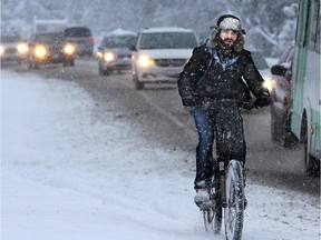 Winter cycling is gaining in popularity.