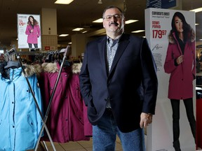 Ronald Boire, CEO of Sears Canada poses for a photo at the Southcentre Mall location in Calgary on December 2, 2014.