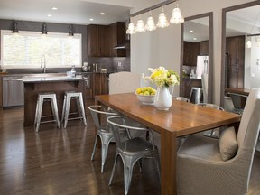 Open concept living space in the Ovation by Sabal Homes.