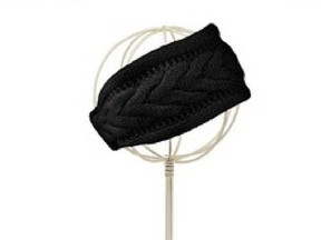 Cable knit cashmere headband by Lord & Taylor. Courtesy, The Bay