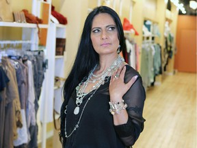 Bhawana Clark who set up a store in Inglewood selling jewelry she designs.
