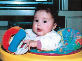Phoenix Sinclair is shown in a family photo released by the Commission of Inquiry looking into her 2005 death.