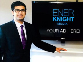 Zakir Hussein, the founder of Organo Energy, has launched a new company called Enerknight Media that supplies businesses with indoor digital advertising screens.