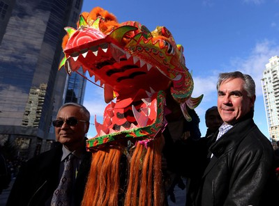 Premier Jim Prentice during Chinese New Year celebrations at the Chinese Cultural Centre on February 15, 2015.