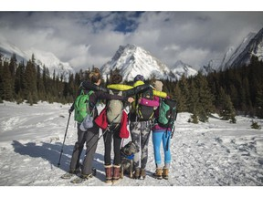 The women of Hike365 get out for monthly hikes or snowshoeing, an experience that allows everyone to try new trails and meet new friends.