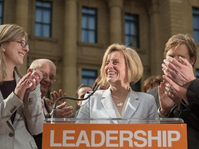 Rachel Notley launches the Alberta New Democratic Party's campaign at the McDougall Centre in Calgary on Tuesday, April 7, 2015.