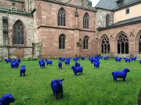 Basel, Switzerland, offers up a treasure chest of cultural surprises, such as this temporary outdoor art installation of blue sheep.