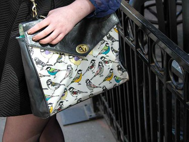 Have fun with patterns and colours in your handbag.