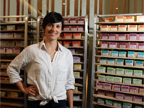 Karina Birch, CEO of Rocky Mountain Soap, poses in her shop at Chinook Mall, on June 17, 2015.