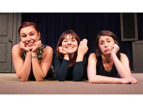 First Love, Last Love, No Love performers, from left, Ali Froggatt, Renée Amber and Lindsay Mullan will be performing their improv comedy this weekend at the Loose Moose Theatre. They were photographed on August 25, 2015. (Colleen De Neve/Calgary Herald)