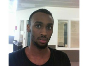 Calgary police released this image of Osman Mohamed, who they believe may have been in the same vehicle as the victim of a shooting on 16 Ave N.W. on Sept. 9.