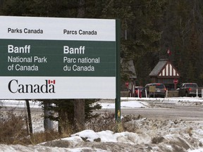 The east entry gate into Banff National Park. Annual passes bought this year won't expire for two years.
