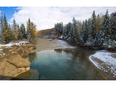 The Castle River in the Castle Wilderness Area of Southern Alberta.