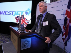 Westjet President and CEO Gregg Saretsky announced on Tuesday morning the new direct route between Calgary and London Gatwick.