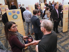 Calgarians took the opportunity to learn more about the upcoming royalty review and voice their opinions during an open house held in the Telus Convention Centre on Monday Oct. 5, 2015.