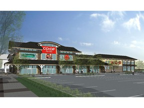 Construction is underway at Auburn Station, anchored by a Co-op grocery store