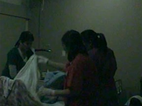 These three careworkers, Maria Teresa Dumo, May Casimero and Angelina Borja, were captured mistreating 92-year-old Ulrich Wissner on a motion activated camera, installed at the foot of the victim's bed by his son.