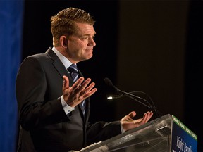 Wildrose Leader Brian Jean speaks at a Wildrose fundraising event at the Telus Convention Centre in Calgary, on Dec. 9, 2015.