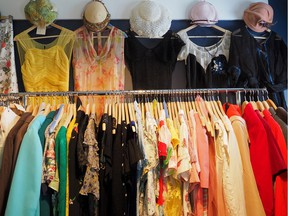 Consignment stores are one option for selling vintage clothing.