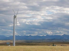 A small wind farm near Pincher Creek.