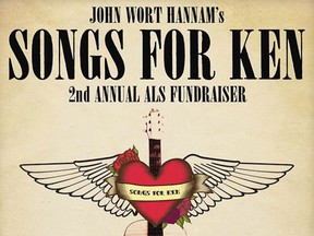 An excerpt of the event poster for Songs for Ken.