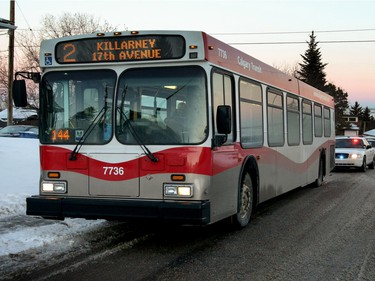 Calgary Transit bus hit by gunfire near 78 Ave. and Hunterview Dr N .