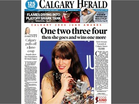 Calgary Herald front page (partial) from April 7, 2008