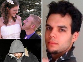 On the right, homicide victim Ryan Lane. Top left: Tim and Sheena Rempel. Bottom left: Wilhelm Rempel.