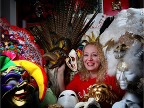 Olga Semanova is taking her hobby of making elaborate masks to the stage, in a production at the University of Calgary.