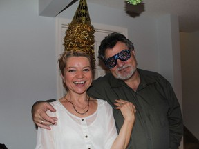 Adrien Gottli (in an undated photo with her husband Laszlo Gottli) is fighting for her life after being struck by a driver backing up an SUV in the community of Hawkwood on July 28, 2016.