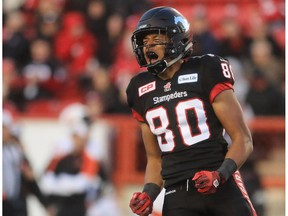 Former Calgary Stampeders receiver Eric Rogers sustained a serious knee injury while at training camp with the San Francisco 49ers.