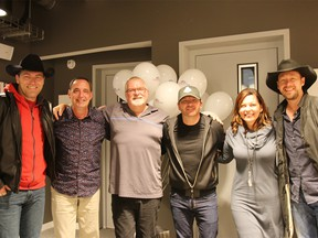 The gang reforms for one final show on Friday, September 23th, 2016 From L-R : George Canyon, Dan Carson, Doug Veronelly, Bobby Wills, Robyn Adair and Paul Brandt Credit : Michael Lumsden/Postmedia