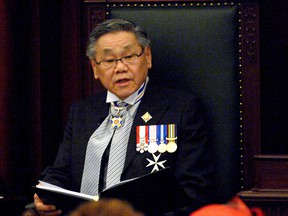 Lt. Governor Norman Kwong reading the speech from the throne in 2007.