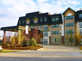 The exterior of Swan Evergreen Village by Origin.