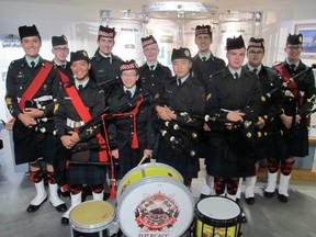 Cal 1008 Military 9  The  Battle of the Somme Commemorative Dinner held Sept 24 at The Military Museums of Calgary had many highlights not the least of which were  performances from the Regimental Pipes and Drums of the Calgary Highlanders' Cadet Corps.
