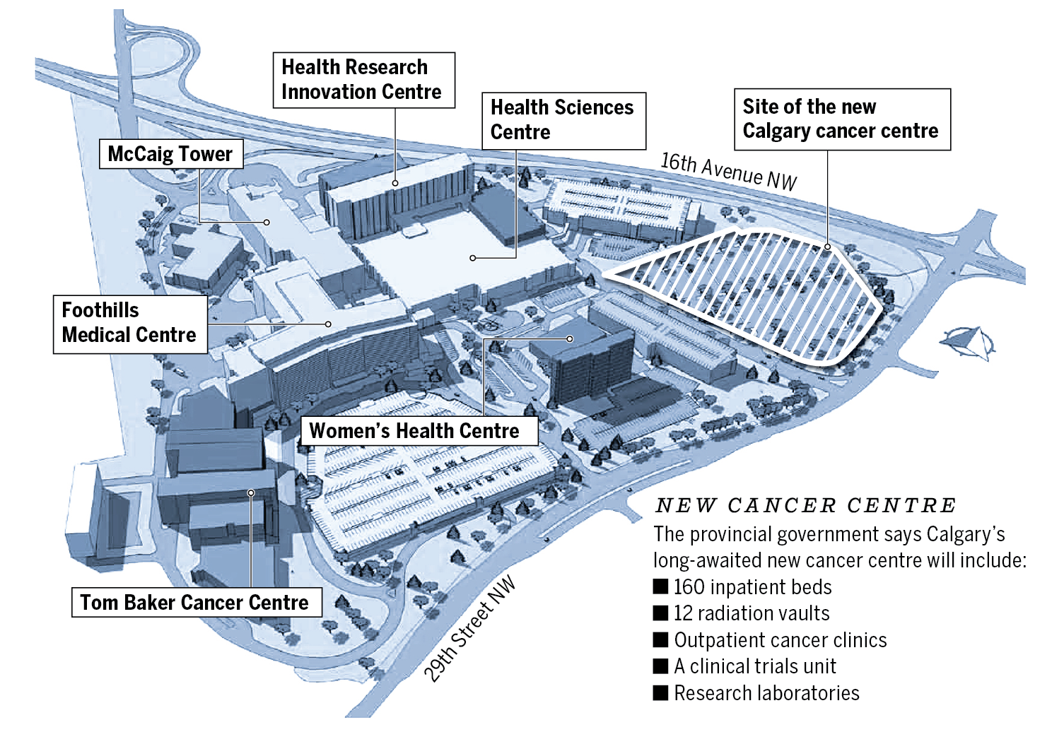 New Calgary cancer centre graphic
