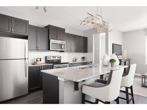 The kitchen in the Allee show home in Cornerstone.