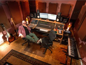 Danny Patton, the owner and chief engineer of Airwaves Recording Studios at his mixing board in Calgary, Ab., on Thursday October 27, 2016. Airwaves Studio is celebrating its 25th anniversary.
