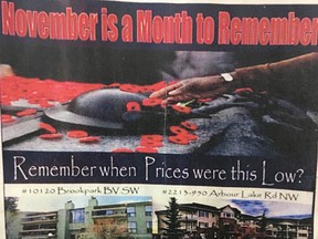 Gary Fayerman's real estate advertisement in a community newsletter linking home sales to Remembrance Day infuriated many, including the father of a Calgary soldier killed in Afghanistan.