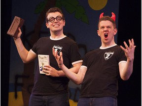 James Percy, left,  and Joseph Maudsley in Potted Potter.