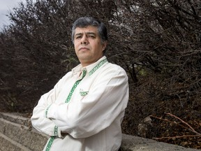 Oscar Rios, a Canadian immigrant from Mexico, stands for a photo near his home in Calgary, Alta., on Saturday, Nov. 12, 2016. Rios is concerned about what a Donald Trump presidency will mean for his homeland. Lyle Aspinall/Postmedia Network