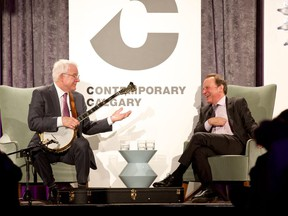 Steve Martin and Adam Gopnik. Picture by Phil Crozier.