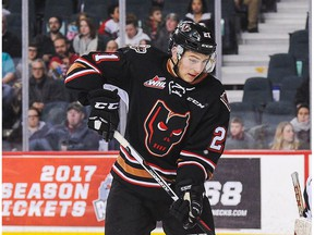 Matteo Gennaro scored the only goal for the Calgary Hitmen in a 5-1 loss at the Swift Current Broncos on Friday.