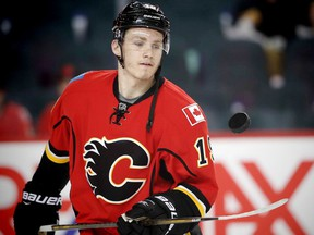 Flames rookie forward Matthew Tkachuk has been suspended for two games following a hit to the head of L.A. Kings defenceman Drew Doughty on Sunday. (File)