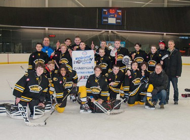 The Bow River Bruins were victorious in the Bantam 6 Blue division.